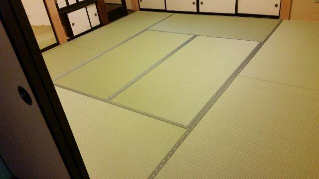 和紙表の畳の張替え