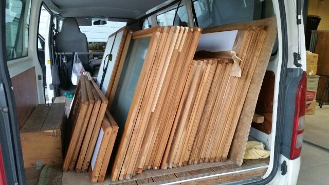 魚沼の襖の張り替えと畳の張り替えで今日も作業中!