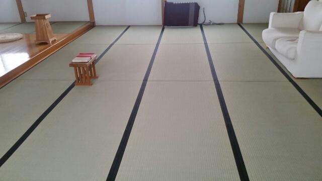 南魚沼市のお客様の畳工事が完了いたしました。