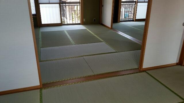 魚沼市のお客様から畳と襖の張り替え工事を頂きました。