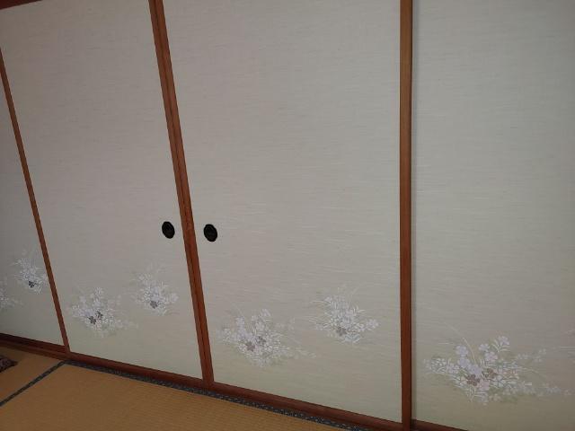 襖の張り替え工事
